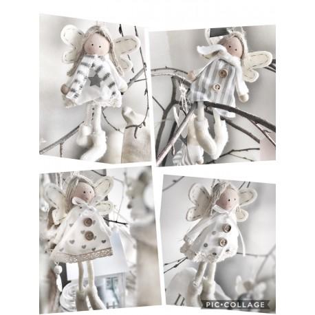 Angioletti in tessuto assortiti da appendere