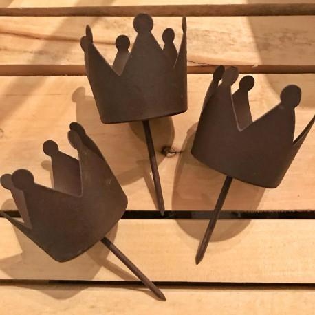 Corona decorativa in metallo porta tealight