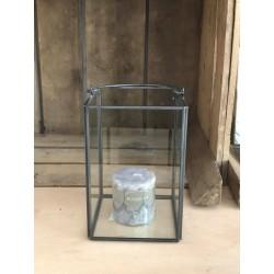 Lanterna in metallo e vetro S