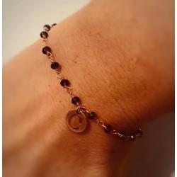 Braccialetto rosario con ciondolo lettera