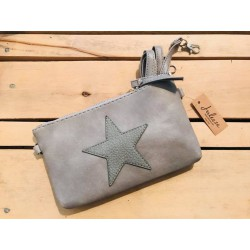 Borsa a tracolla in pelle color tortora Starry