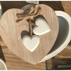 Scatola cuore in legno