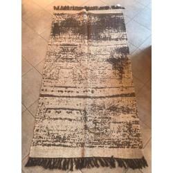 Tappeto in cotone beige 90x150 cm