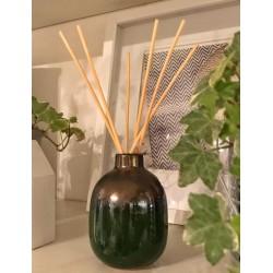 Diffusore a bastoncini in ceramica verde Winter Berry