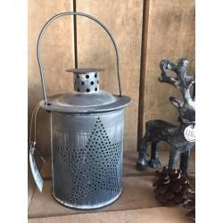 Porta tealight in metallo nero anticato Star