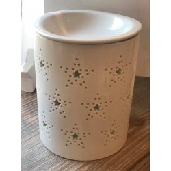 Brucia essenze in ceramica bianco Hope