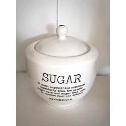 Zuccheriera ceramica bianca Love
