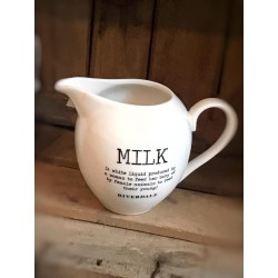 Lattiera Love bianca in ceramica