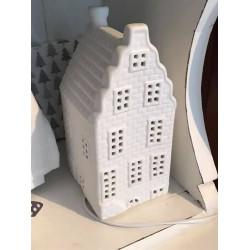 Lampada in ceramica casetta olandese