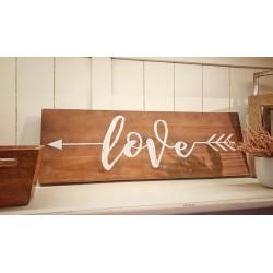 Pannello in legno Love