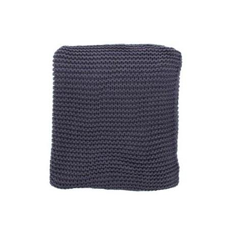 Plaid lavorato a maglia grigio medio