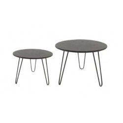 Tavolino nero in metallo L
