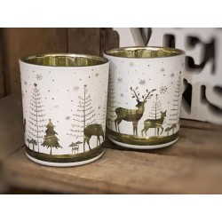 Porta tealight Winter Forest