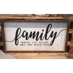 Pannello in legno Family