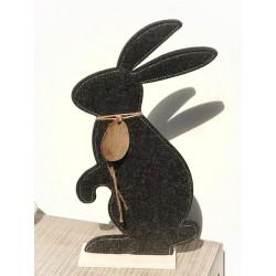 Coniglio in feltro e legno