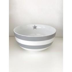 Happy Bowl righe grigio
