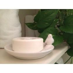 Piattino in ceramica con uccellino