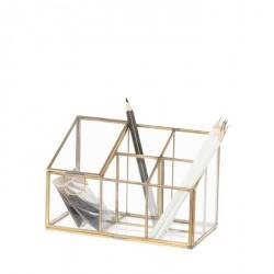 Scatola in vetro con profili in metallo