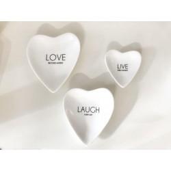 Piattini cuore set di 3