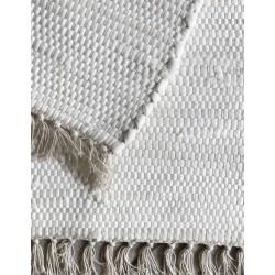 Tappeto in cotone bianco