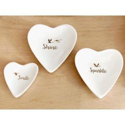 Piattini cuore (set di 3)