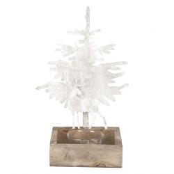 Porta tealight con albero e cervo