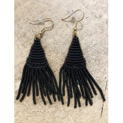 Orecchini pendenti con perline handmade