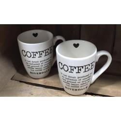Mini mug coffee bianca
