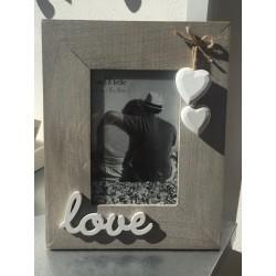 Portafoto in legno da appoggio Love