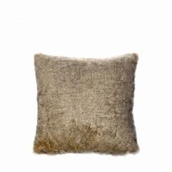 Cuscino in pelo ecologico  marrone 50x50