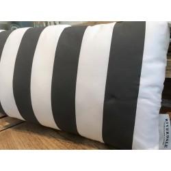 Cuscino a righe grigio e bianco 30x60 cm