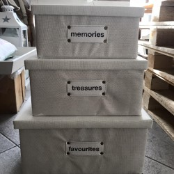 Set di scatole Favourites colore bianco