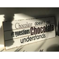 Cartello in legno Chocolate