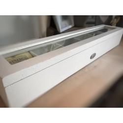 Scatola te bianca in legno a sei scomparti  45 cm