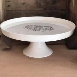 Alzata per torte in ceramica bianca All Ingredients 26 cm