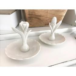 Piattino in ceramica con giacinto