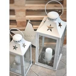 Lanterna bianca stella con manico L
